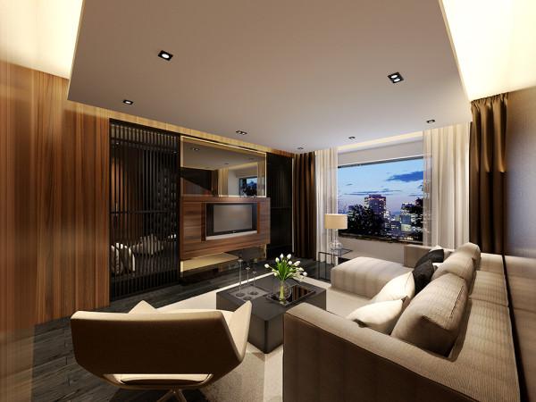 此案是一个工业风的设计,空间布局注重自由舒适,起居室、工作区、餐厅开放相连。室内动线是一种自由流动的模式,家具的布置都是弹性的,主人可以根据需要随时转换出更多的会客空间或者是工作空间。