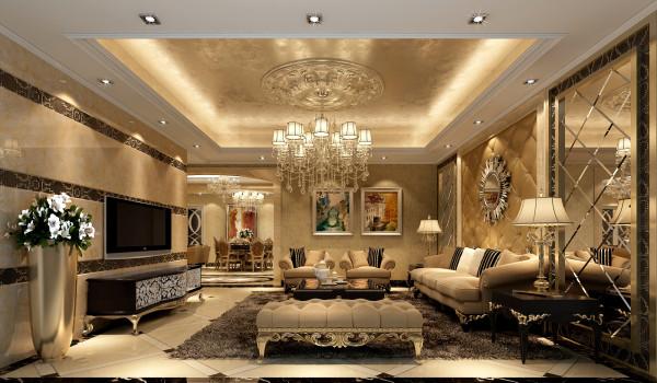 歐式三居別墅客廳臥室裝修效果圖片_裝修美圖-新浪網