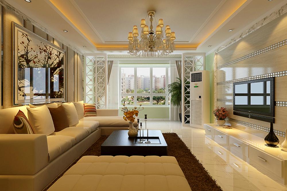 客厅图片来自石家庄业之峰装饰虎子在祥云国际146平米现代风格效果图