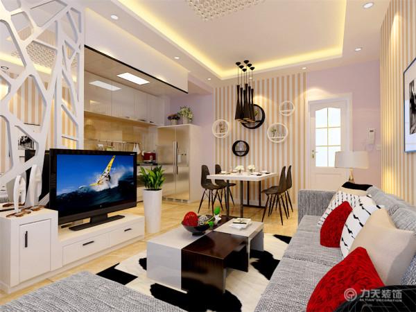这是一套金隅悦城1室2厅1卫一厨52.00㎡的户型。本户型面积较小,风格属于现代简约风格,所以此次设计方案定义为简约风格。