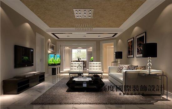 暖色的现代设计,让您的客厅看起来整洁,温馨