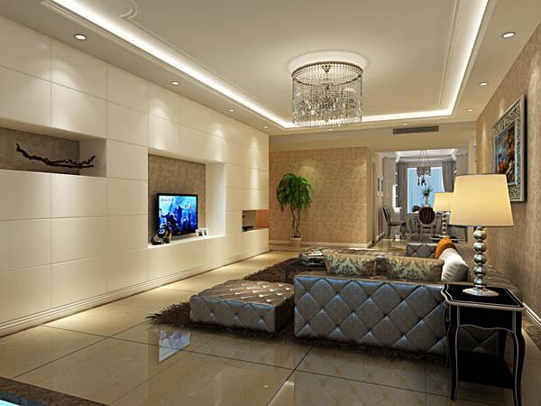 客厅以雍容华贵的金色质感,佐以浪漫的咖色为主基调,从简单到繁杂,从整体到局部,精雕细琢,镶花刻金,都给人一种奢华的家居印象。
