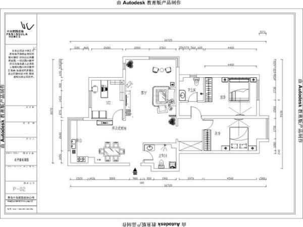 普吉新区140平平面布局图