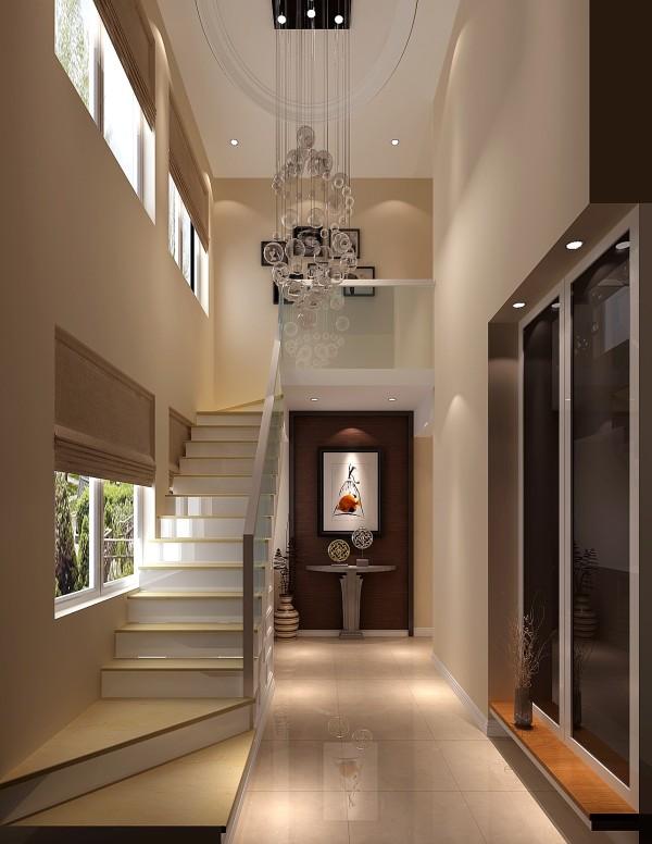 楼梯间效果细节图 成都高度国际装饰设计