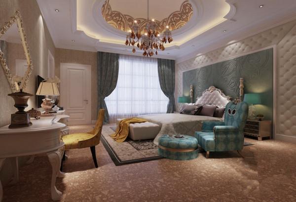 卧室的设计没有浓妆艳抹,采用了简约欧式的基调,融合了古典新奢华的元素,给人一种温馨,淡雅的氛围。