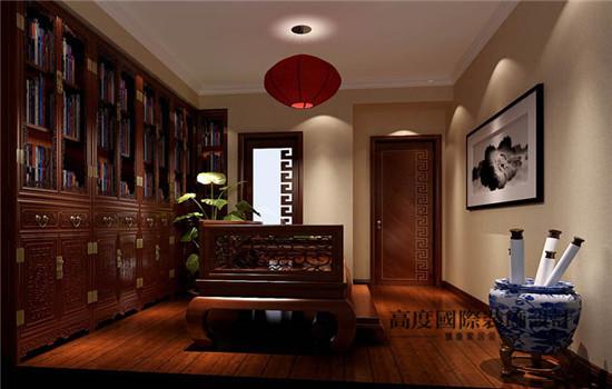 优雅古典,典型的中式风格的书房
