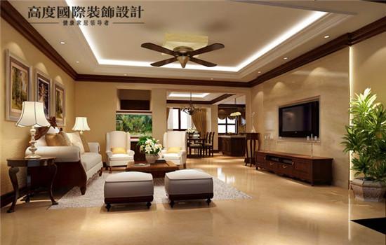 优雅的客厅,暖色的温馨风格