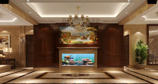 玄关墙面与餐厅的墙 面使用护墙板,使墙面造型更加丰富