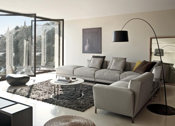 沙发效果现代简约合同装修图片电视_装修背景-新浪网客厅时尚墙v沙发美图图片