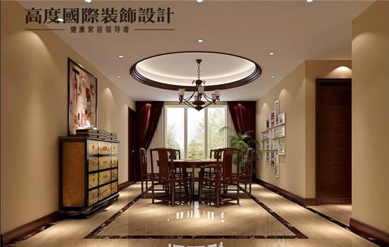 中式奢华的餐厅