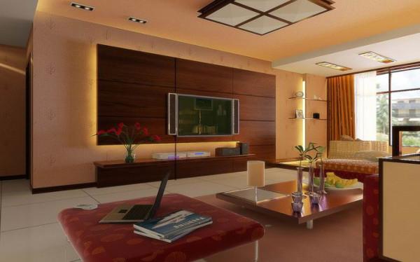 这是一个居住与休闲相结合的概念,广泛地运用木材和其他的天然原材料,深木色的家具,局部采用一些金色的壁纸、丝绸质感的布料,灯光的变化体现了稳重及豪华感。