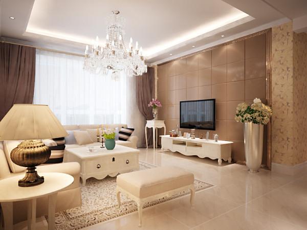 设计理念:这种风格温馨的装饰、淡雅的色彩、大气的造型达到雍容华贵的装饰效果。