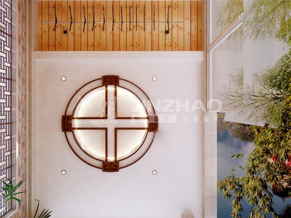 【设计说明】:这是顶部吊部的造型,这个灯也很吻合这样的中式风格。