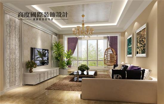 简约欧式的客厅,采光也很好