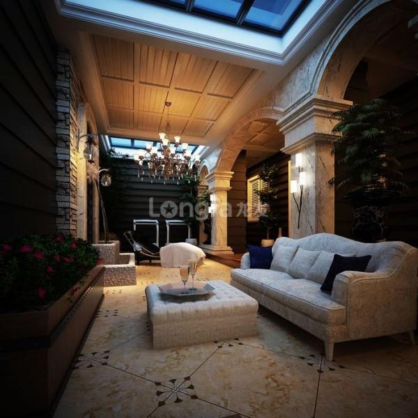 同样的拱门,同样的菱形,形相似,但材质各有考究,处理手法娴熟,给空间增加了一番灵气。十分考究的美式家私、精心搭配的软装摆件,使客厅空间显得沉稳、贵气,欧风中透着美意。
