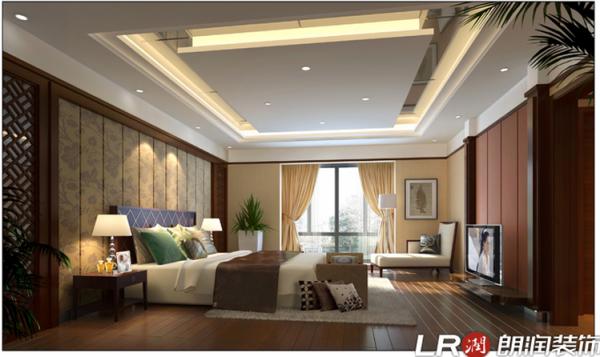 卧室采用简约时尚型设计,让人从客厅进入后有一种别有洞天的感觉
