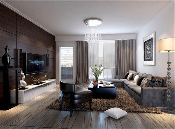 客厅彰显了主人的审美以及品位,生活习惯入手,整体打造出简约而不简单的效果。线条简洁的木质护墙板与地面的地板相得益彰,鲜花和绿植也是很好的点缀。颜色对视觉的冲击,个性而又有韵味。