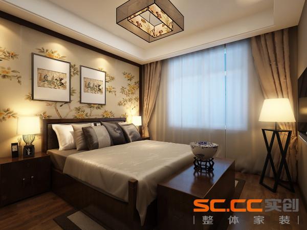 设计理念:卧室是主人小憩与睡眠休息的地方。卧室设计要使睡眠空间更具温馨。亮点:卧室颜色偏暖色,有助于主人睡眠质量。卧室背景墙采用大面积花鸟壁画使空间更具温馨舒适的质感。