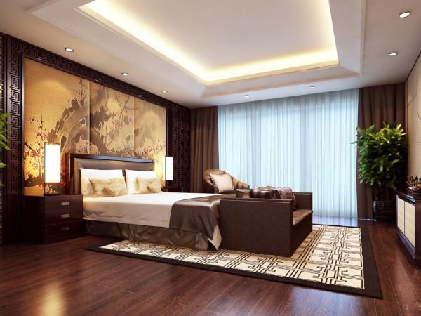 业主的设计定位是中式风格,整体的色调定义为偏黄色,木色,米白色,还有黑色。