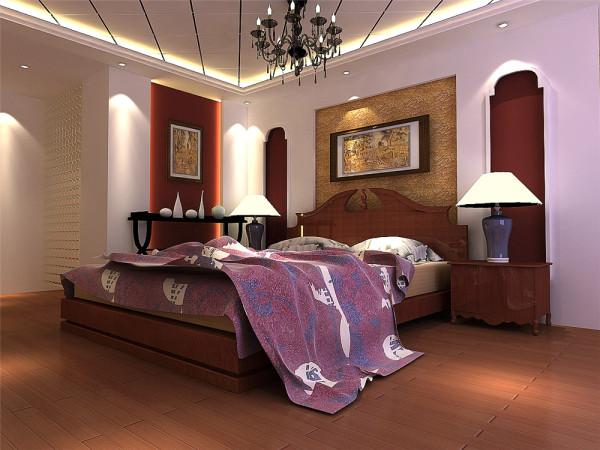 。客厅处理方式延续了门厅的手法,使整体空间感及风格统一。电视背景使用手法文化砖加真石涂料,可以很好的勾出古普的效果。