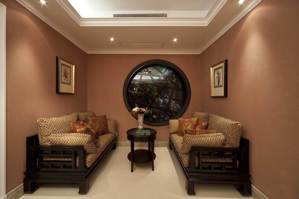 【成都实创装饰】独栋别墅—欧式风格—高端样板房—客厅装修效果图图片