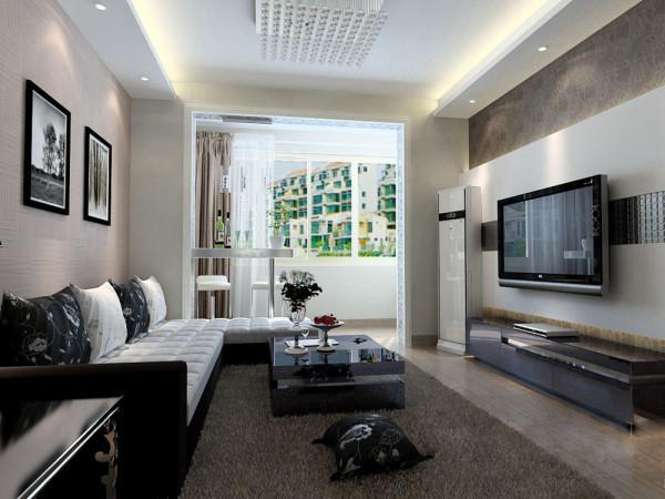 本方案为二室一厅一厨一卫的居室,针对年轻上班族的业主。客厅设计采用简约明朗的线条,将空间进行了合理的分隔。壁纸和灯光采用暖色调,让业主可以释放工作中的压力,得到纯粹的放松。