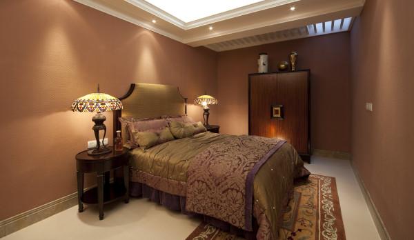 【成都实创装饰】独栋别墅—欧式风格—高端样板房—卧室装修效果图