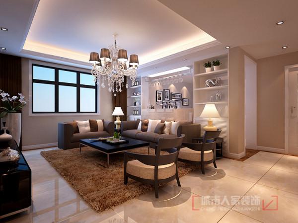 客厅沙发背景 兼储物功能