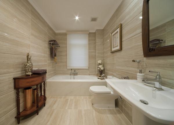 【成都实创装饰】独栋别墅—欧式风格—高端样板房—卫生间装修效果图
