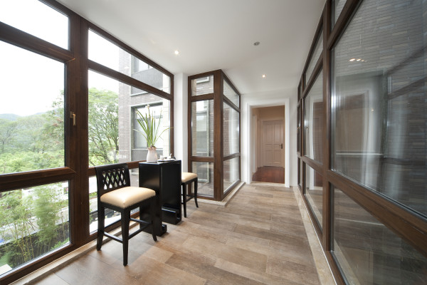 【成都实创装饰】独栋别墅—欧式风格—高端样板房—阳台装修效果图