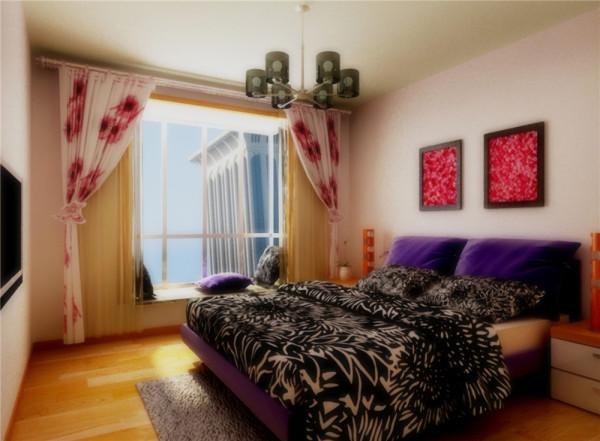 在电视背景墙面和地面上使用色调偏暖的浅褐色,来营造安静平和的色彩基础,沙发背景采用奶茶色,深浅色的自然过渡,丰富了色彩的层次,在此基础上添加黑色电视柜、深灰色窗帘和灰色地毯,
