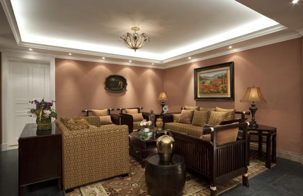 【成都实创装饰】独栋别墅—欧式风格—高端样板房—客厅装修效果图