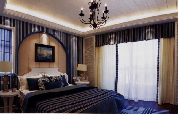 地中海风格卧室装修实景图