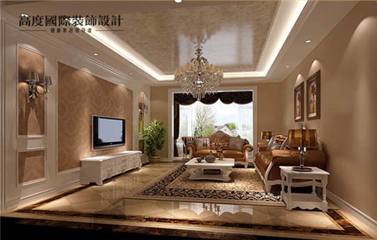 欧式设计的客厅,宽敞大气