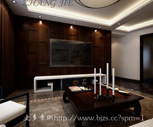 大气典雅的电视背景墙,融合了中式家居的庄重与优雅双重气质