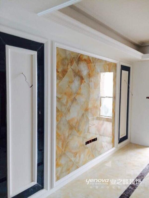电视背景墙,大理石瓷砖。
