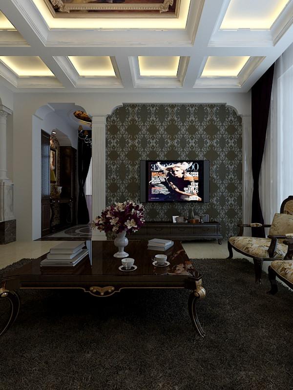 约欧式田园混搭三居别墅白领收纳80后客厅装修效果图片 装修美图 高清图片