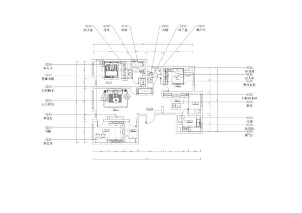 整体户型面积较大,三房两厅,一厨两卫,面积很大,房间布局紧凑,基本没有浪费的地方,其中客厅占的面积较大,厨房面积也正好,采光通透,总体评价为优。