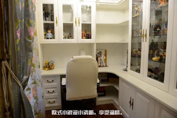 书房一体式书柜书桌定做,按着自己的习惯来,就是书没装多少。。都当展示柜去了。。