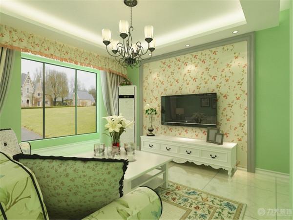 该户型为天津耀华心领寓两室一厅一卫一厨,建筑面积90.37㎡。设计风格定义为田园风格,整体以轻松,跳跃的暖色调为主。