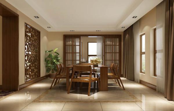 餐厅这一块,结合业主平时在家做饭时间较多,化零为整,整个改为大的中式厨房加一个西式倒台