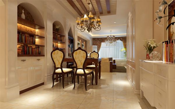 配合柔和的灯光,让人感觉家的温存,那拥有浪漫花纹茶色镜子与榉木饰面板的背景墙,此刻显得高贵典雅