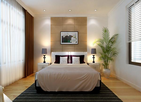 卧室创意卧室背景卧室床头用的是咖色的软包设计,搭配和谐的软装达到了功能与形式的完美统一、简洁明快、时尚而  不浮躁。