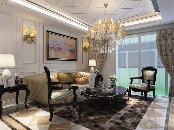 此套房型的装修采用了简欧的装修风格。欧式风格是一种来自欧罗巴洲的风格。