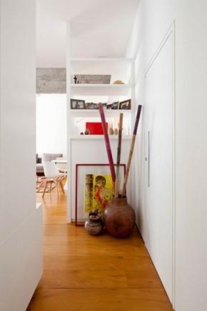 一居 橙色 活力 小清新 收纳 玄关图片来自今朝装饰--刘莎在充满艺术气息和活力的现代一居室的分享