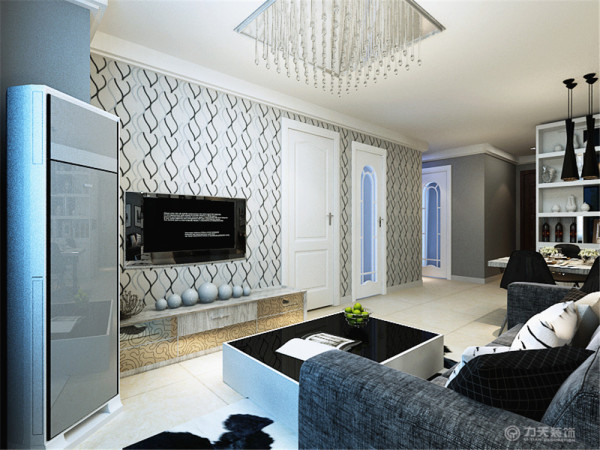 本案为橡树湾标准层户型两室两厅一厨一卫75㎡的户型。这次的设计风格定义为现代简约风格。
