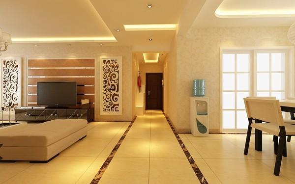 济南实创装饰装修-鲁能领袖城150平米-现代简约风格装修案例效果图
