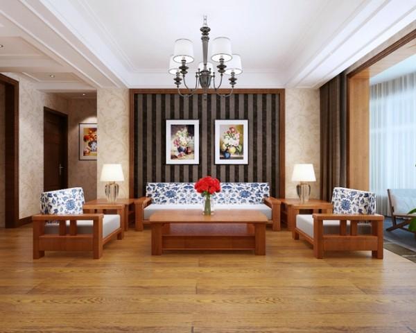 客厅木质感~