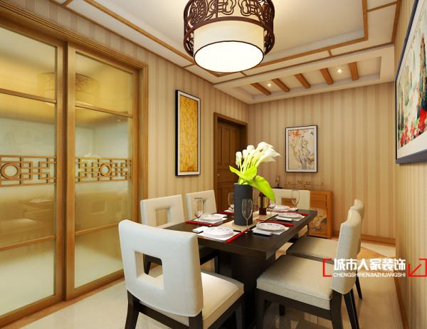 色彩艳丽的背景装饰画,在主人进餐时促进了主人的视觉感官,提高了主人的食欲。