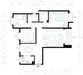 欧式 三居 舒适 公主房 户型图图片来自石家庄装修装饰设计公司在瑞成F区125平欧式奢华的分享